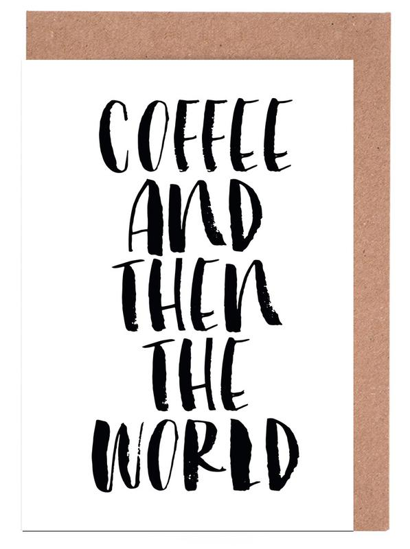 Coffee And Then The World cartes de vœux