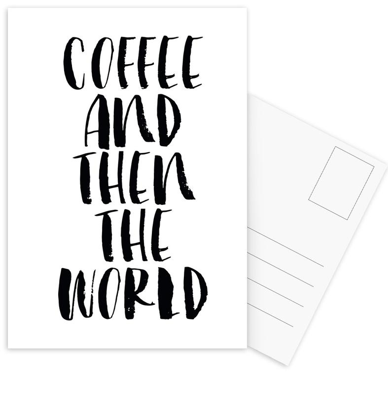 Coffee And Then The World -Postkartenset
