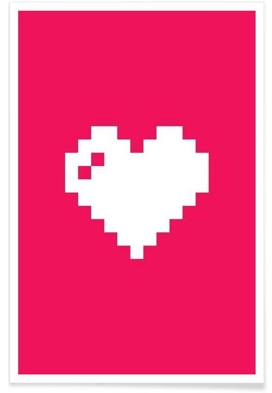 Harten, Valentijnsdag, Digi Heart poster