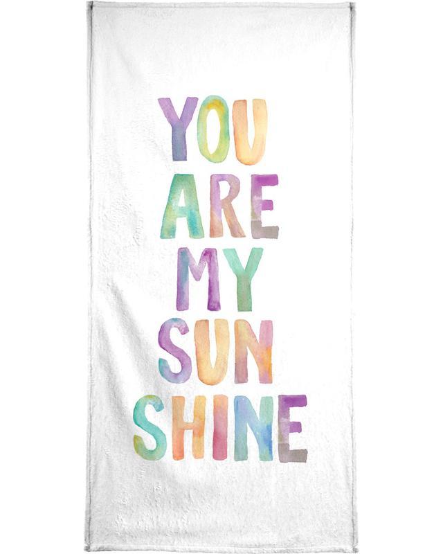 You Are My Sunshine Bath Towel