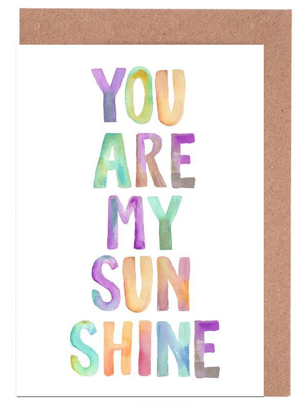 You Are My Sunshine cartes de vœux