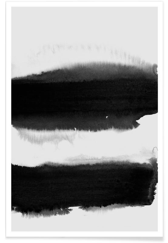 Zwart - abstract poster