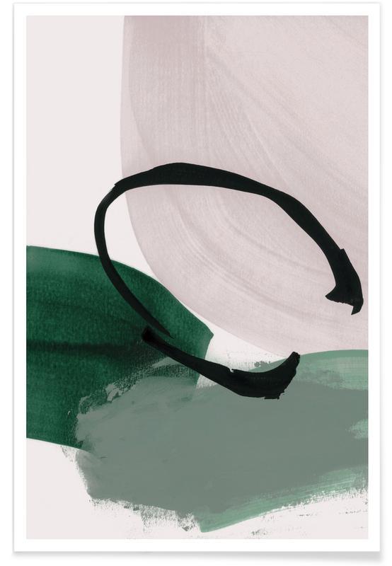 , Minimalism Green and Ivory Plakat