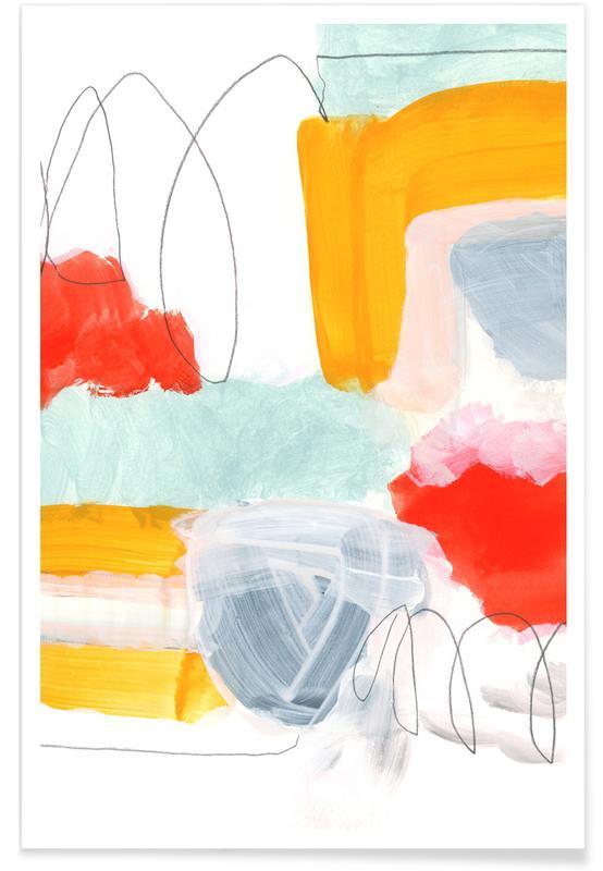 Veelkleurig - abstract poster