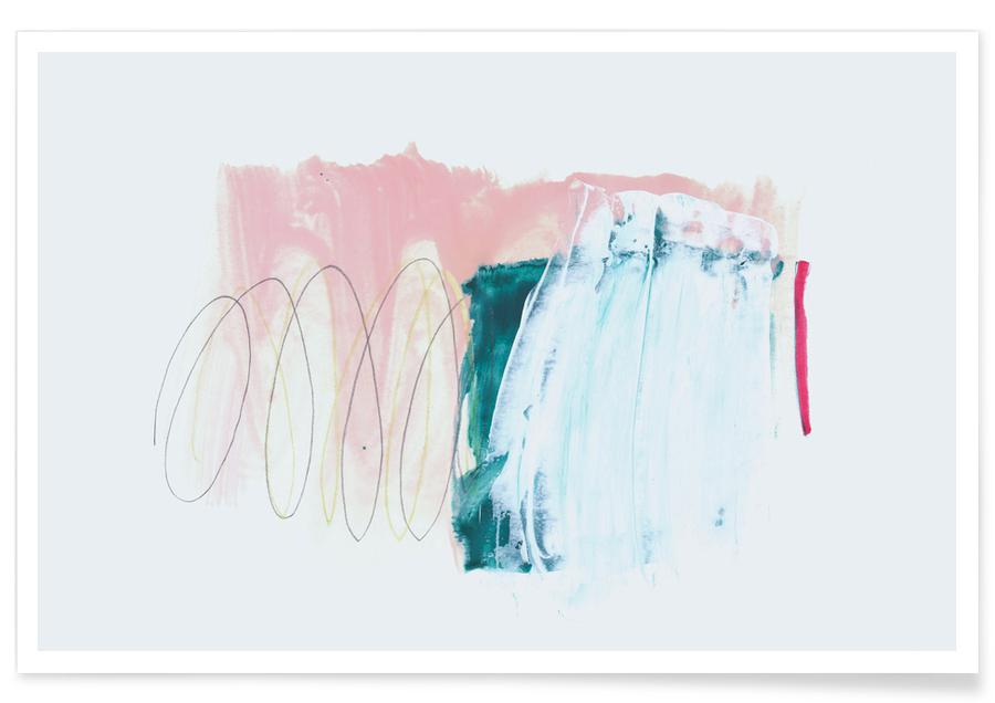 Abstract Pink and Green Poster
