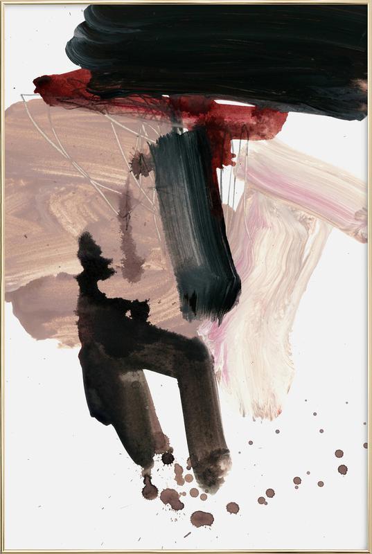 Gestural Brushstrokes 02 -Poster im Alurahmen