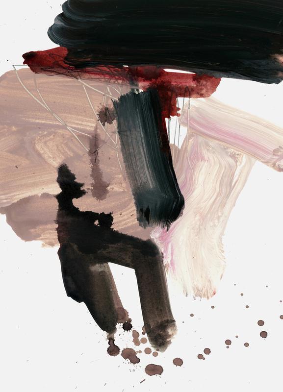 Gestural Brushstrokes 02 -Leinwandbild