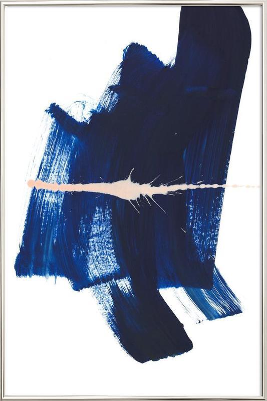 Brushstrokes 4 poster in aluminium lijst