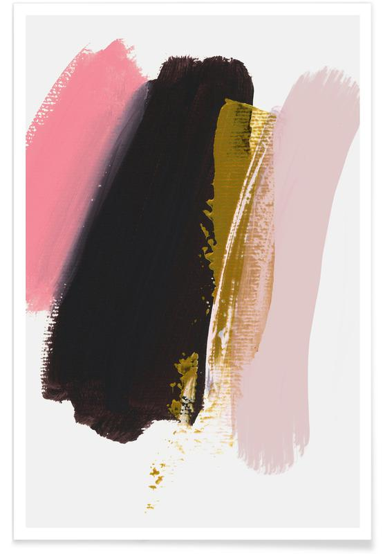 Abstract Landscapes, Brush Strokes 17 Poster