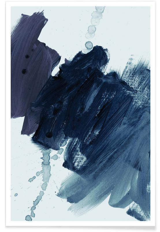 , Brushstrokes 11 Bluish poster