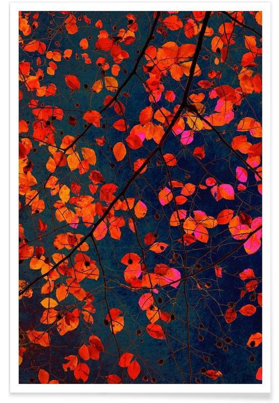 Feuilles & Plantes, Furious Red Leave affiche