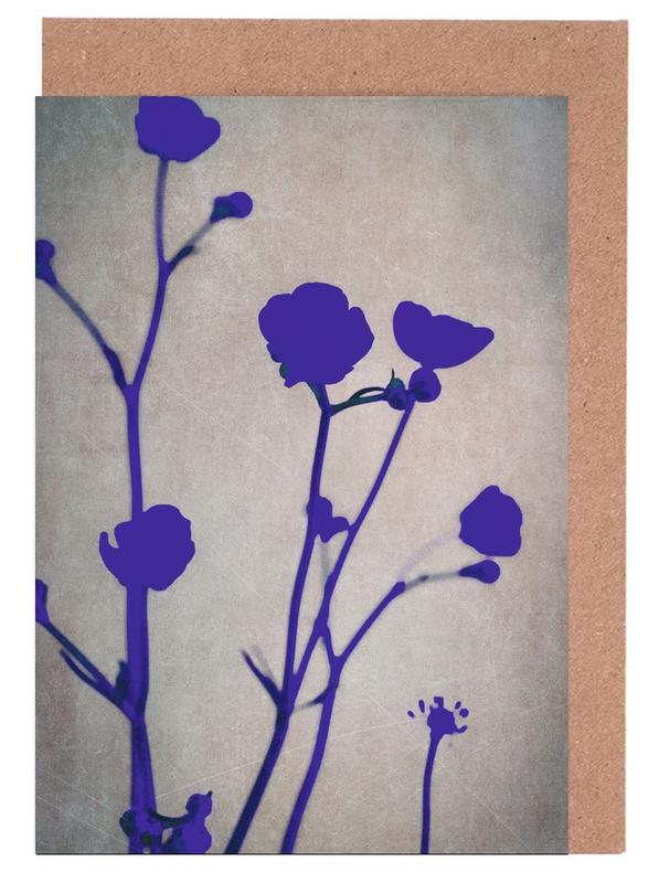 , Blue Silhouettes Greeting Card Set