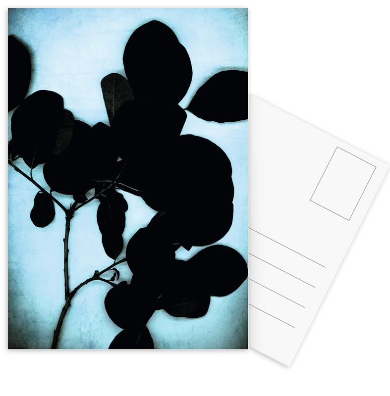Black On Cyan Postcard Set