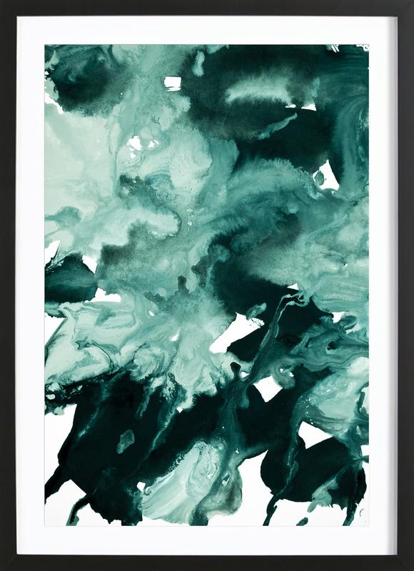 Inkblot Marble 4 Framed Print