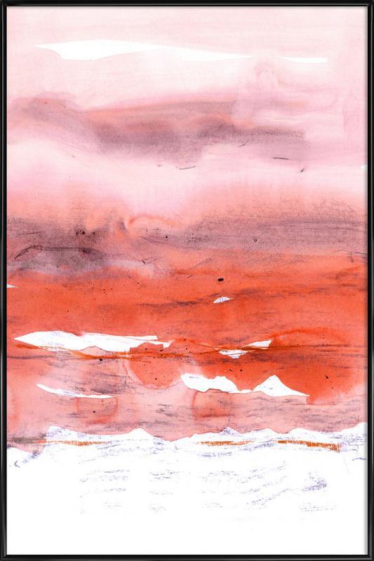 Pink and Modern Orange ingelijste poster