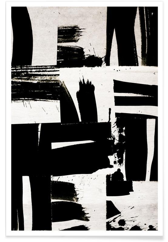 Sort & hvidt, Wabi Sabi 16-02 Plakat