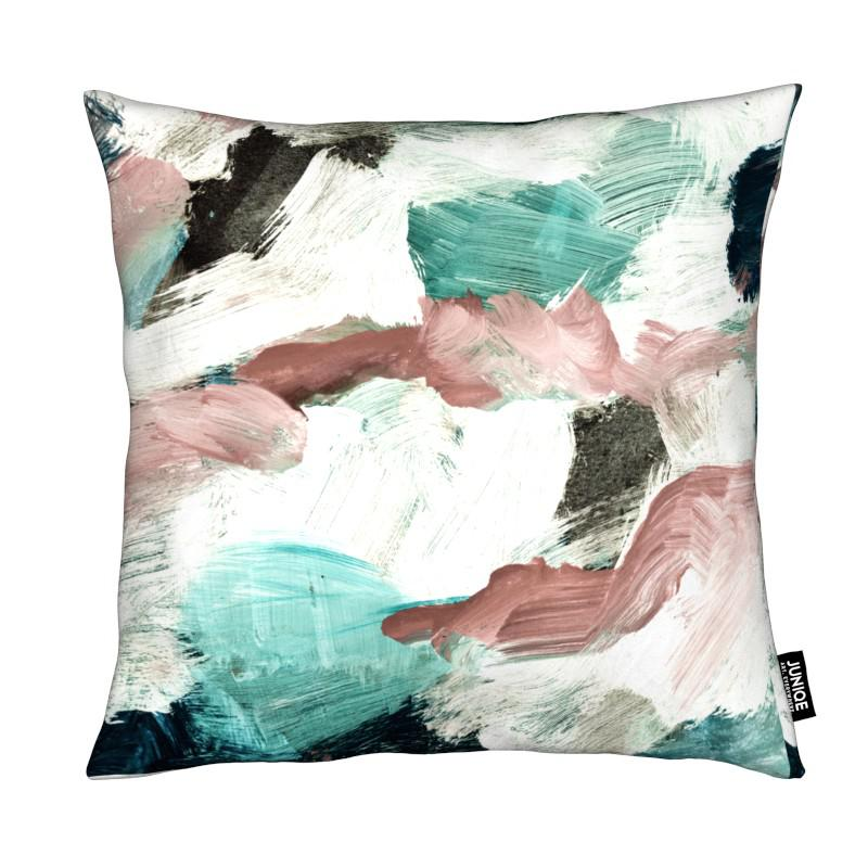 Abstract Painting VI Green Dusty Pink coussin