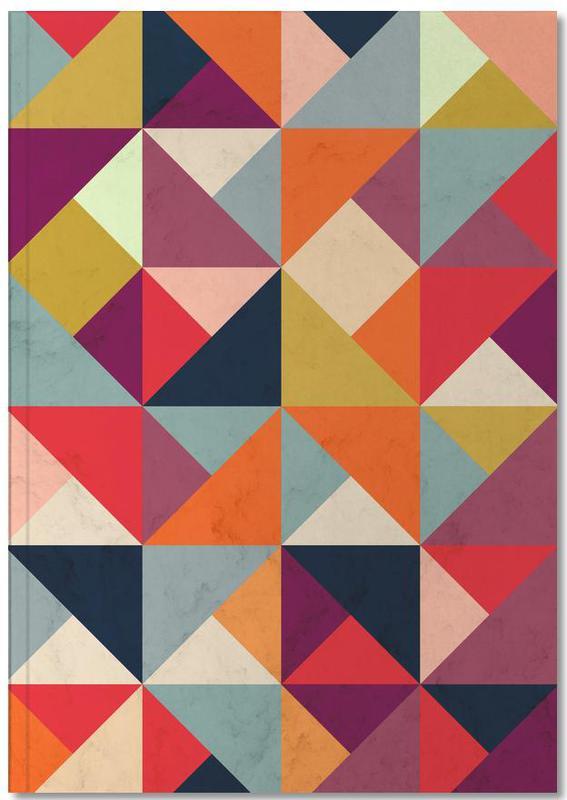 Bright Geometric Happy Pattern Notebook