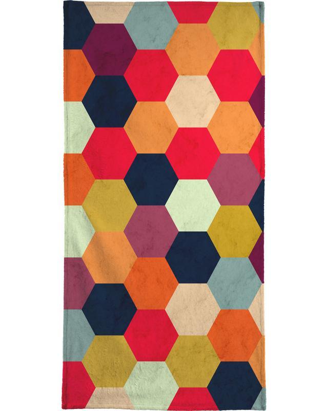 Colorful Beehive Pattern Bath Towel