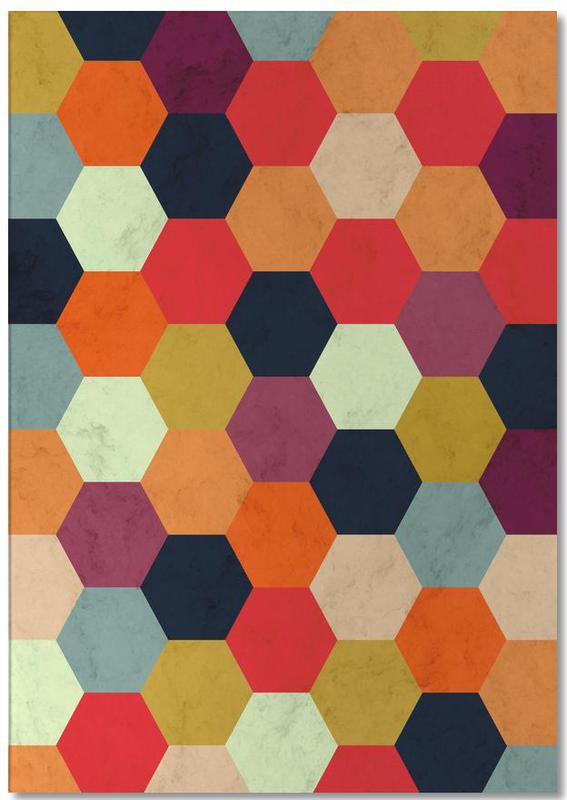 Colorful Beehive Pattern Notepad