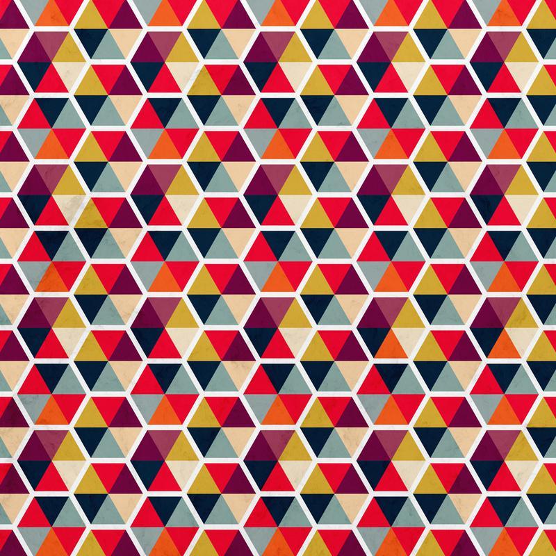 Colorful Umbrellas Geometric Pattern Canvas Print