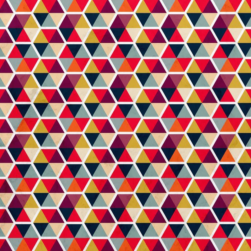 Colorful Umbrellas Geometric Pattern Acrylic Print