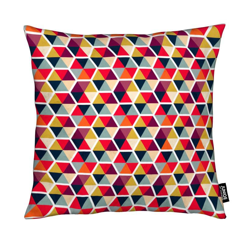 Colorful Umbrellas Geometric Pattern coussin