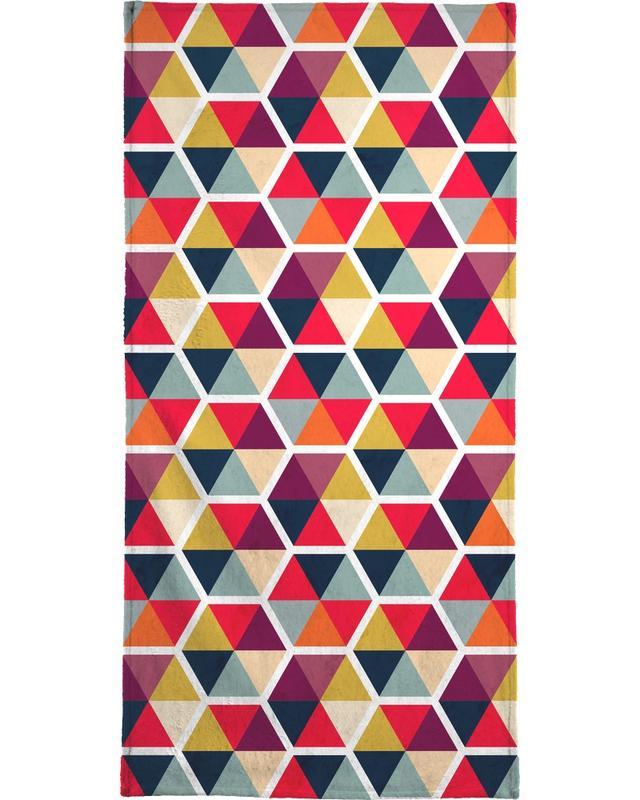 Colorful Umbrellas Geometric Pattern -Strandtuch