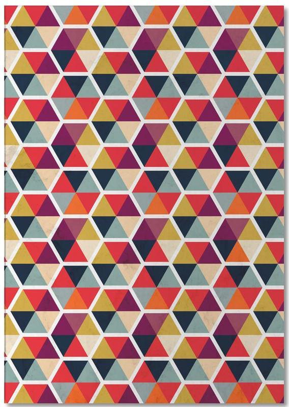 Colorful Umbrellas Geometric Pattern Notepad