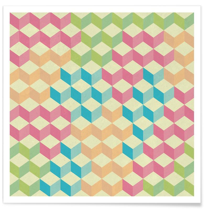 Patterns, SugarCubes Geometric Pattern Poster