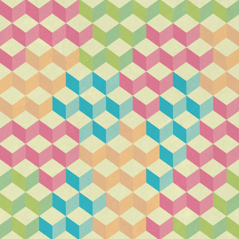 SugarCubes Geometric Pattern Acrylic Print
