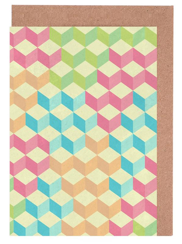 SugarCubes Geometric Pattern Greeting Card Set