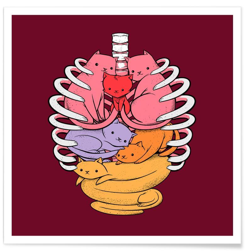 Cats, Nursery & Art for Kids, Anatomicat Poster