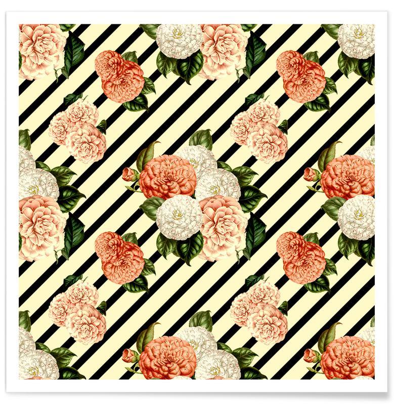 Roses, Patterns, Chrysanthemum Rain Poster
