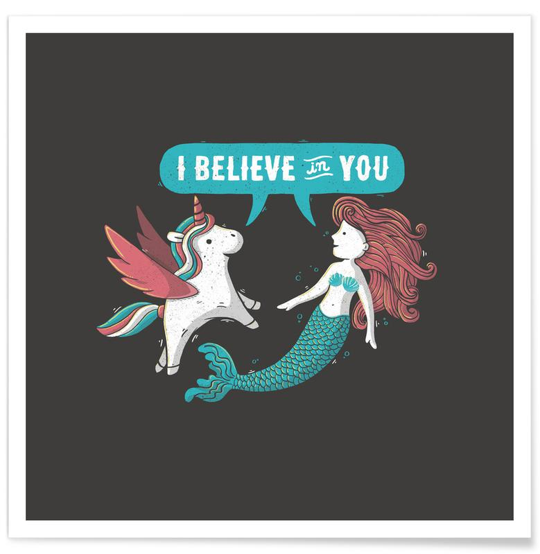 Motivational, Nursery & Art for Kids, I Believe in You Poster