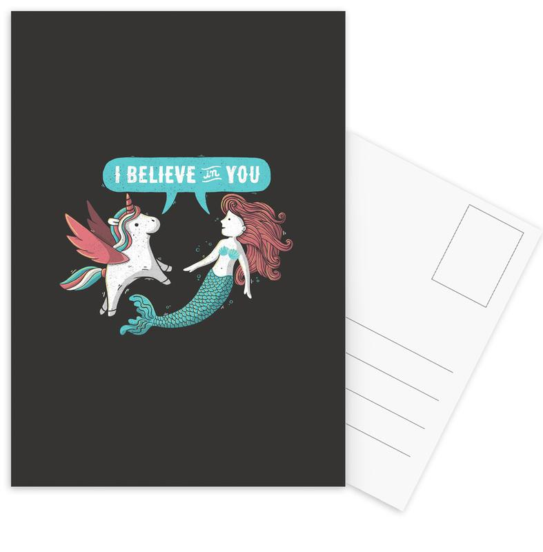 I Believe in You Postcard Set