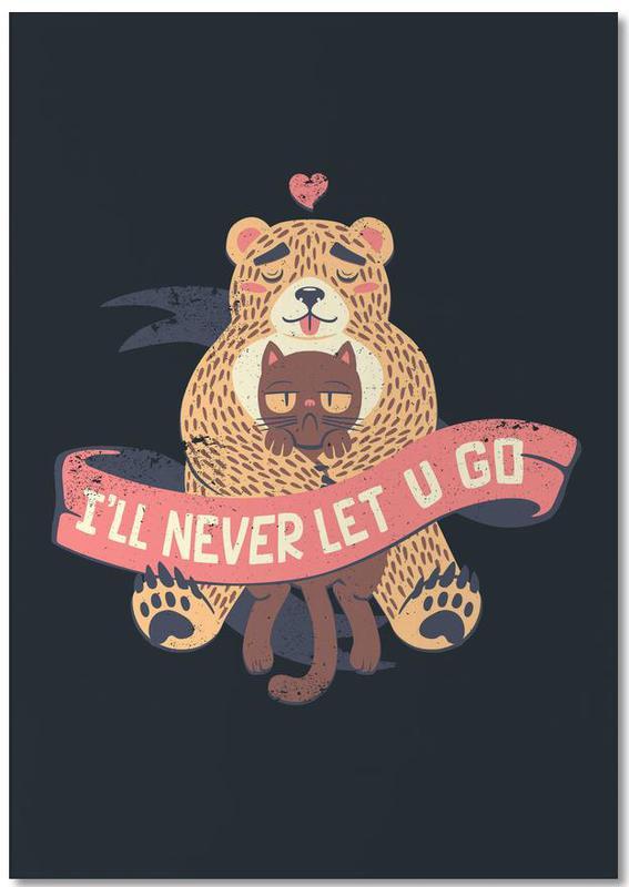 I'll Never Let You Go Bear Love Cat bloc-notes