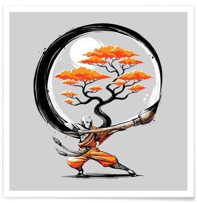 Yoga, Circle Of Life Poster