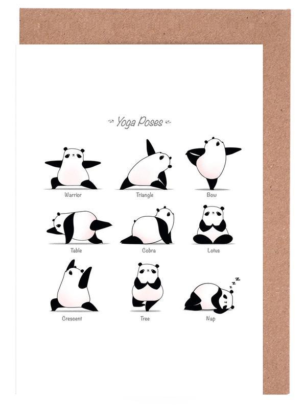 Yoga Panda Ii Greeting Card Set