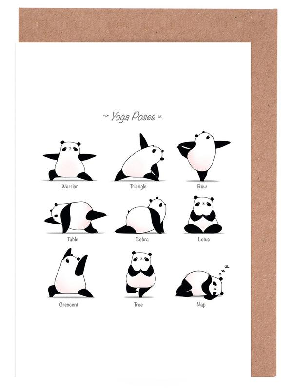 Yoga Panda Ii cartes de vœux