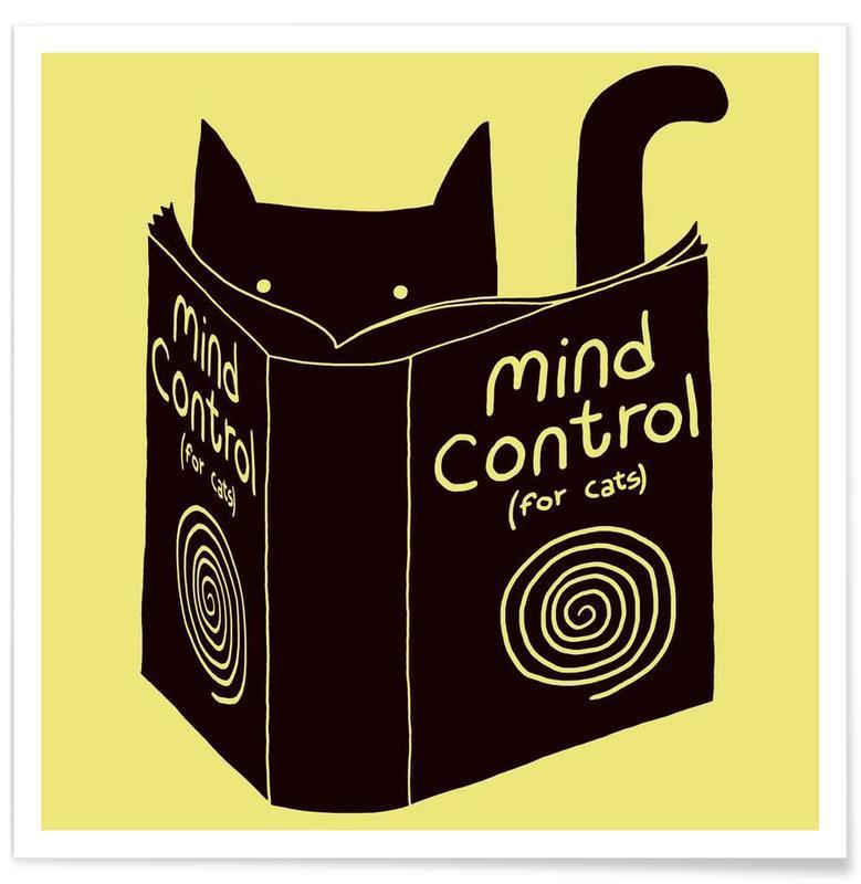 Noir & blanc, Chats, Mind Control affiche