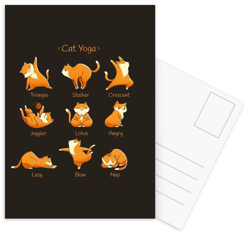 Cats, Yoga, Yoga Cat Postcard Set