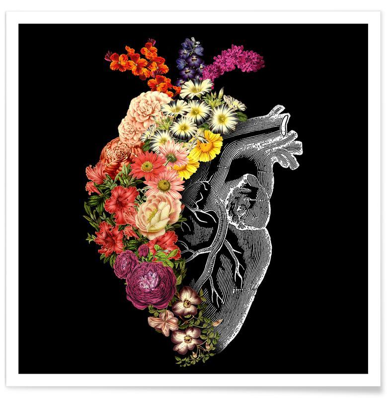 Herzen, Flower Heart Spring -Poster