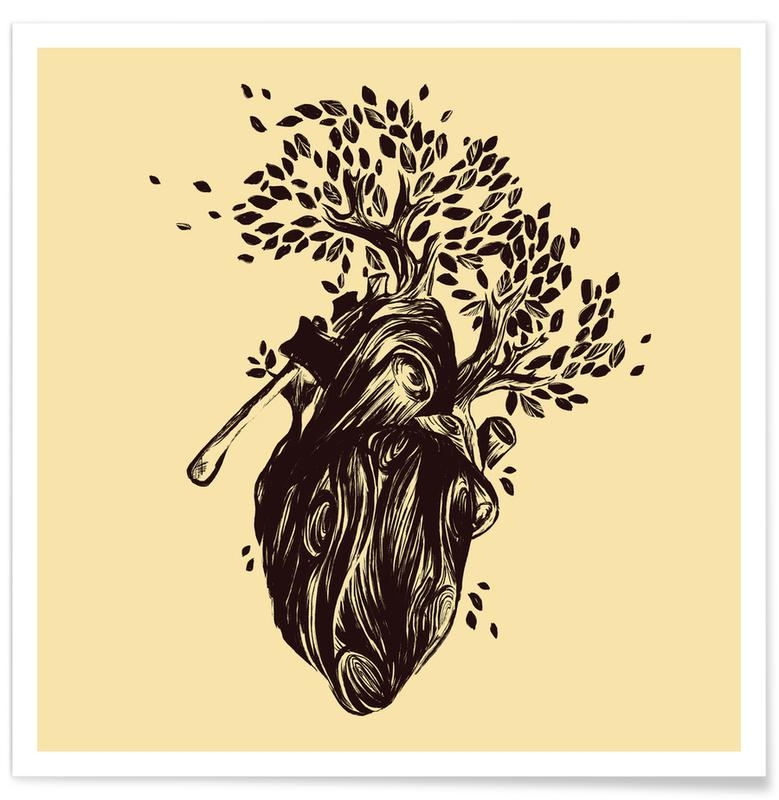 Herzen, Blooming Heart Love -Poster
