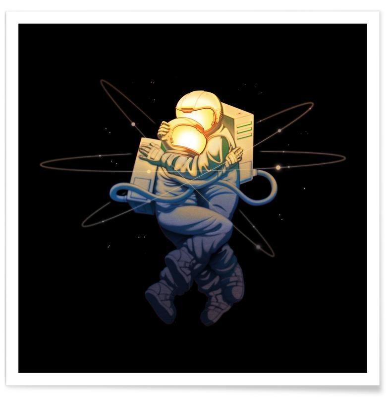 Spaceships & Rockets, Astronauts, Astro Love Poster