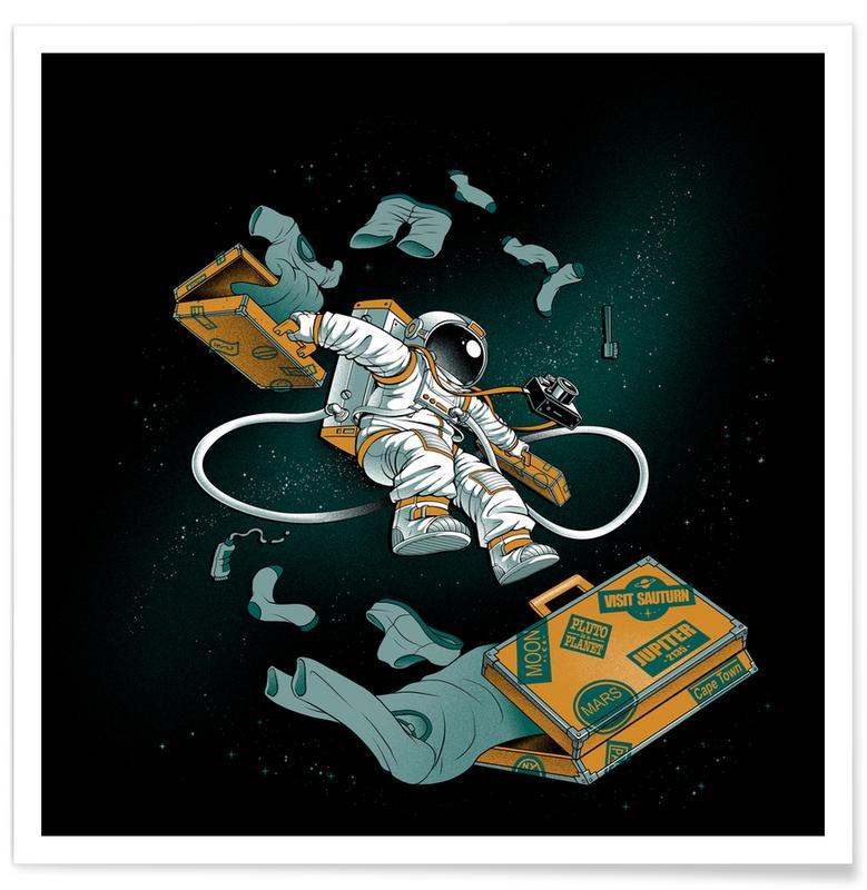 Skulls, Astronauts, Traveler Poster