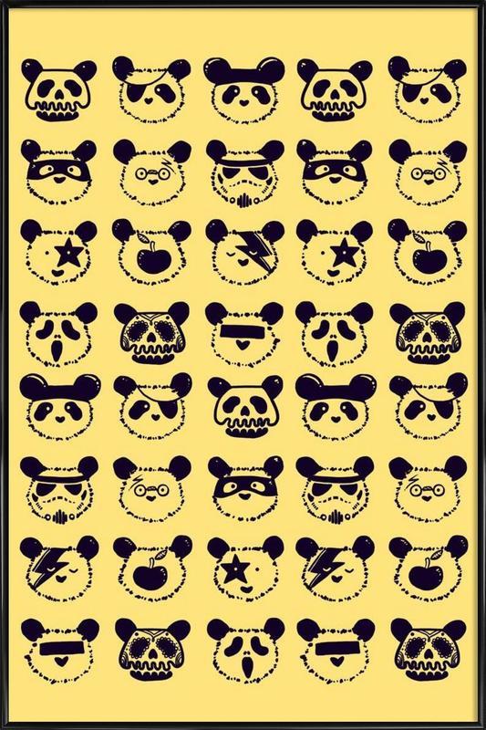 Pop Panda -Bild mit Kunststoffrahmen