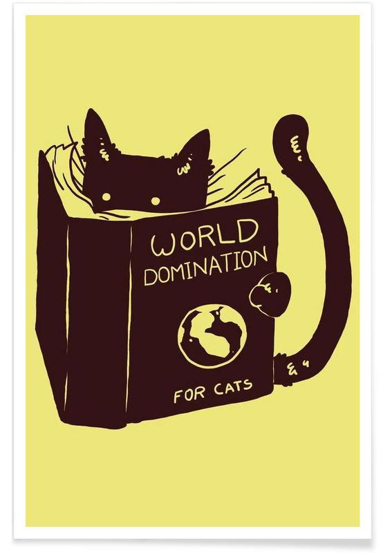 World Domination for Cats -Poster