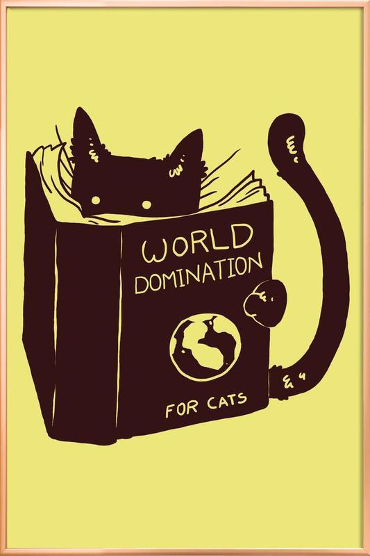 World Domination for Cats Poster in Aluminium Frame