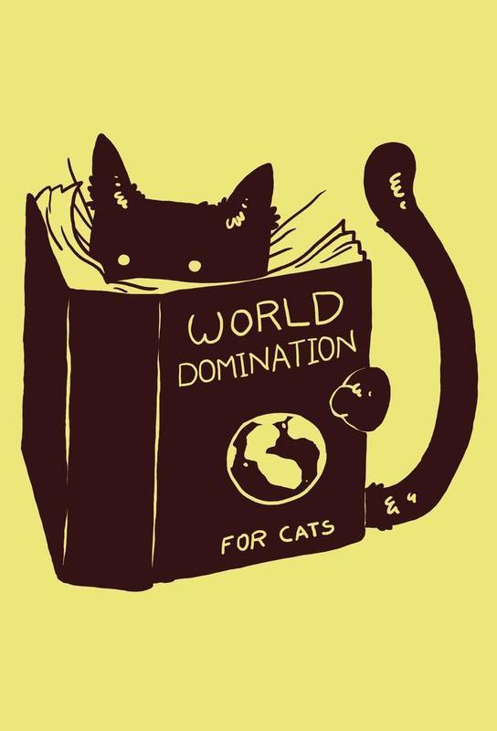 World Domination for Cats Aluminium Print